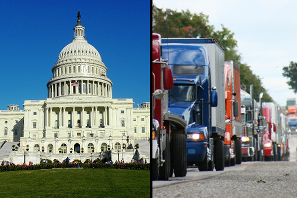convoy of trucks to DC