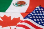 Flags from United States, Canada and Mexico