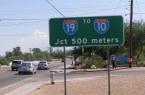 Metric Highway Sign