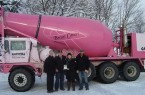 Pink Concrete Truck