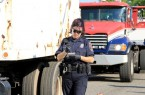 Truck And Police Officer