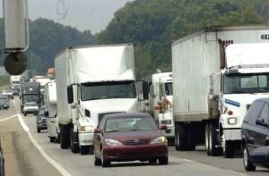 Trucks In Traffic