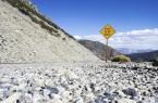 Rock Slide Area Sign