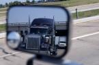 Truck in Side View Mirror