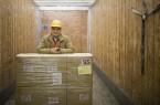 Worker in Trailer