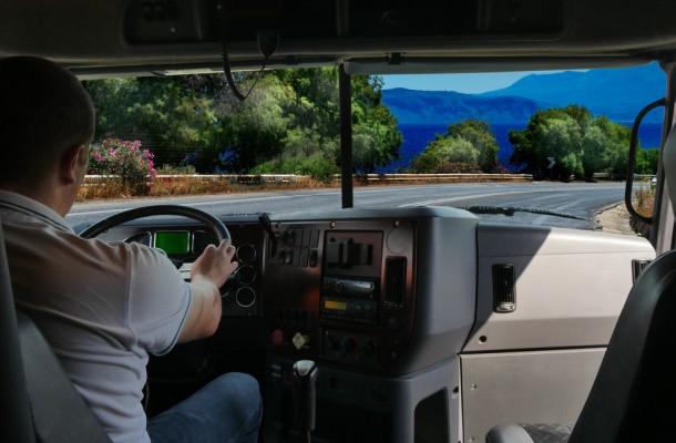 Trucker in Cab