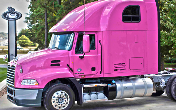 mack trucks supports breast cancer awareness go by truck global news